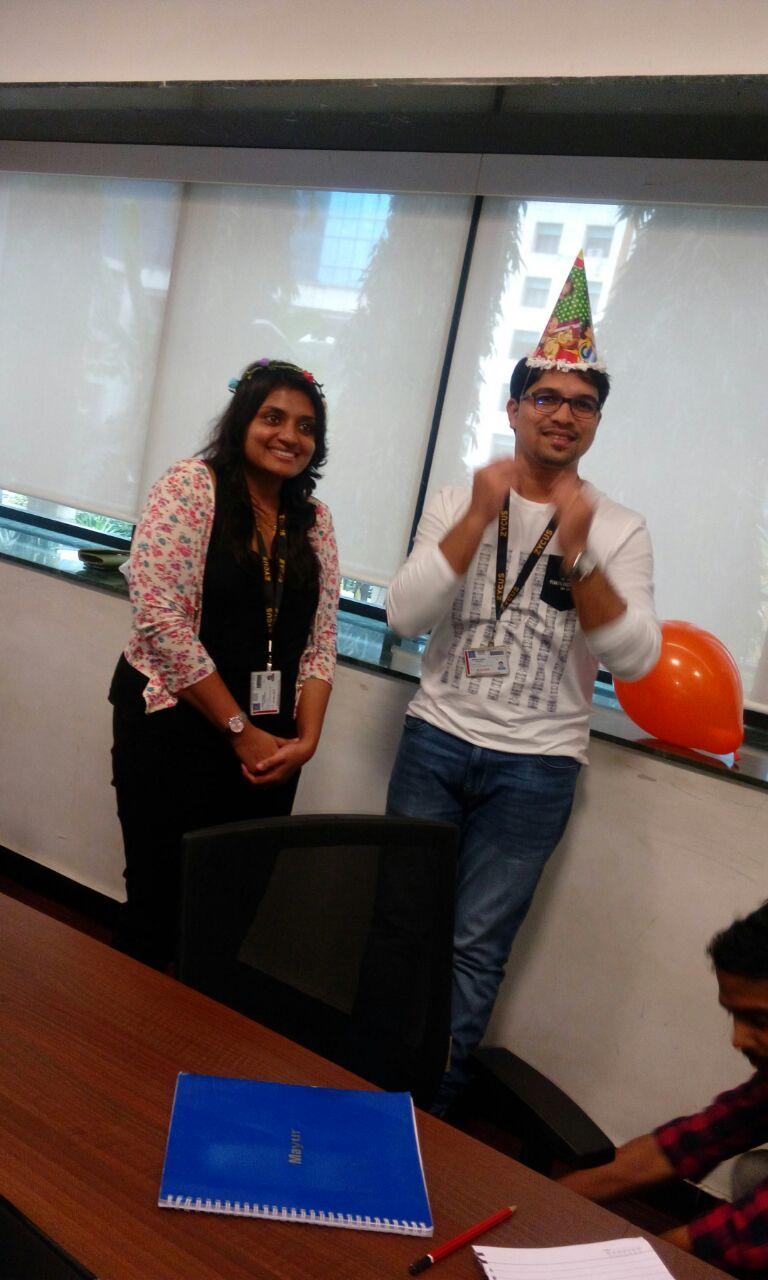 Team birthday celebration